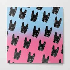 Asia (blue&pink pattern) Metal Print