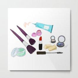 Makeup Bag Metal Print