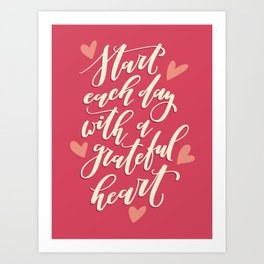 Star Each Day With a Grateful Heart Art Print