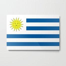 Flag of Uruguay Metal Print