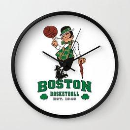 Celtics Basketball Wall Clock