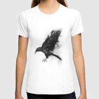 crow T-shirts featuring Crow by Adam Flynn
