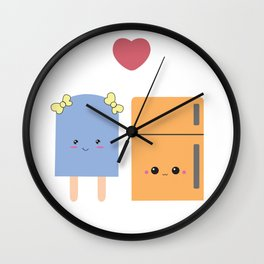 popsi and fridgie Wall Clock