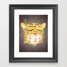 DRUNKEN TIGAAAAR Framed Art Print