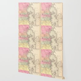 Vintage Map of New Bedford MA (1871) Wallpaper