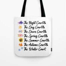 ACOTAR Courts Tote Bag