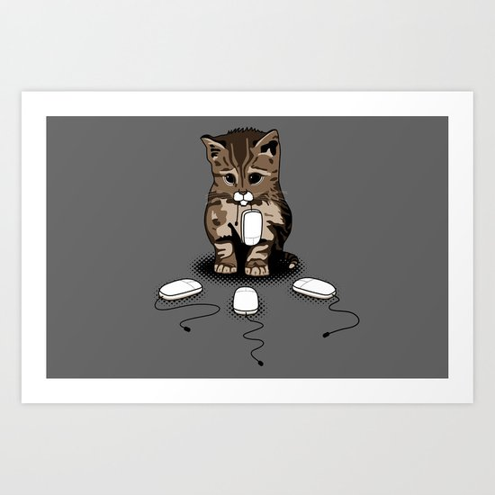 Eyes of cat Art Print