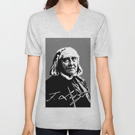 Franz Liszt (1811-1886) in 1886 (digital 1) Unisex V-Neck