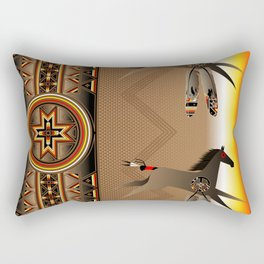War Horse Rectangular Pillow