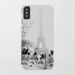 Paris Black & White iPhone Case