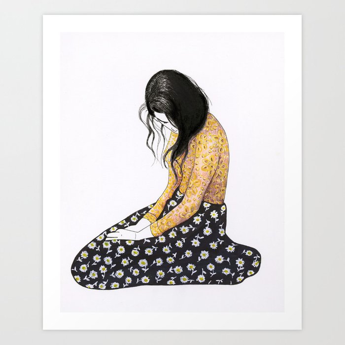 Sitting Woman Art Print