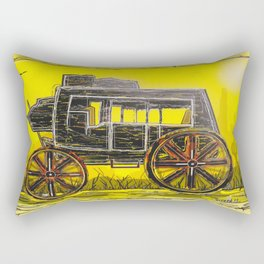 Old West Stagecoach Rectangular Pillow