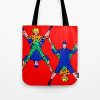 kenzo Tote Bags featuring Kenzo Pop Art by Alli Vanes