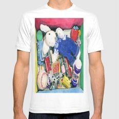 Toy Box Mens Fitted Tee White MEDIUM