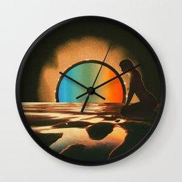 Sunset meditate Wall Clock