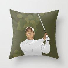 Tiger Woods Throw Pillow