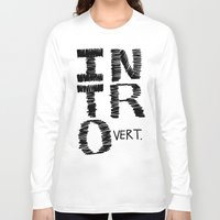 introvert Long Sleeve T-shirts featuring Introvert by Lizzi Davis