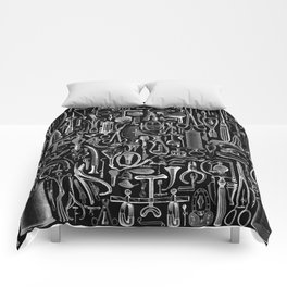 Medical Condition BLACK Comforters