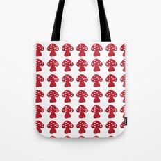 mushroom red Tote Bag