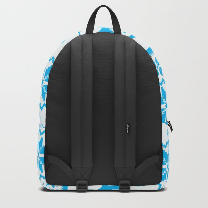 Cute Blue Scandinavian Penguin Holiday Design Backpack