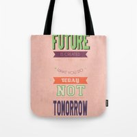 word Tote Bags featuring WORD by Anthony Morell
