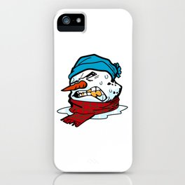 Melting Snowman iPhone Case