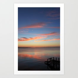 Sunset Over the Sound Art Print