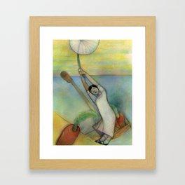 Airborn Dandelion Framed Art Print