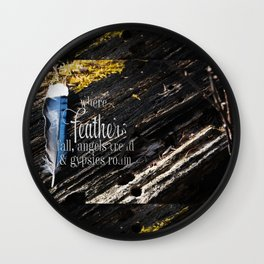 Where Feathers Fall Wall Clock