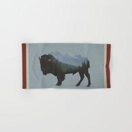 Wyoming Bison Flag Hand & Bath Towel