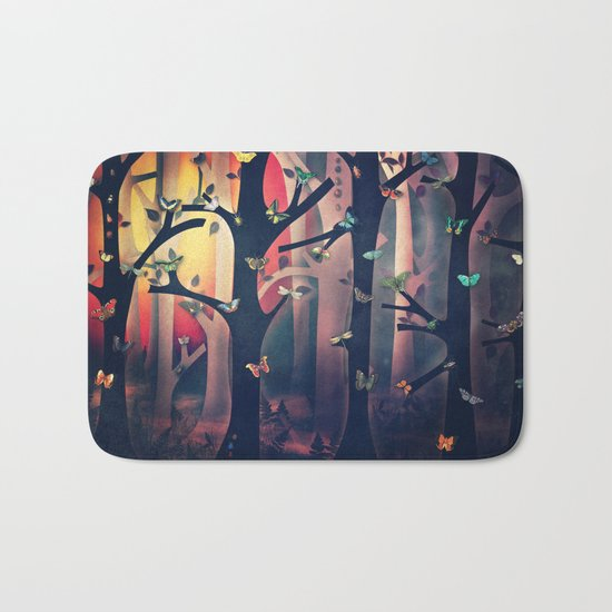 The Woods at Sunset Bath Mat