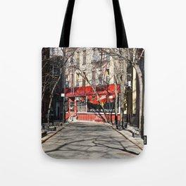 Greenwich Village street in winter Tote Bag