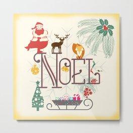 Christmas Noel Metal Print