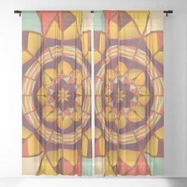 Multicolored geometric flourish Sheer Curtain