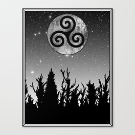 Full Moon Triskele Canvas Print