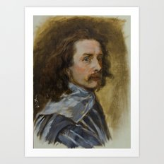 Sir Anthony van Dyck self-portrait Art Print