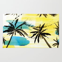 Under the palm trees Rug