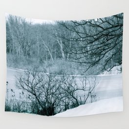 Blue January Wall Tapestry