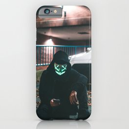 two men in masks with white gtr r35 iPhone Case