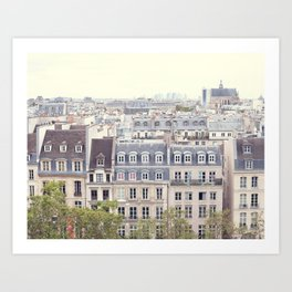 Parisian Roofs from Above Art Print