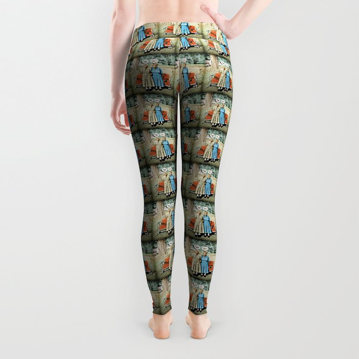 Two Cool Kitties: What's for Lunch? Leggings