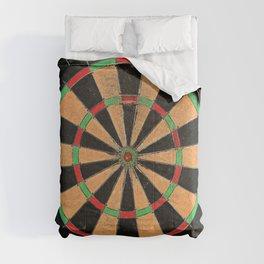 Old vintage retro dartboard target Comforters