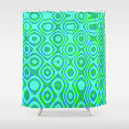 Mixed Polyps Green - Coral Reef Series 037 Shower Curtain