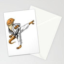 Bearded Dragon Karate Stationery Cards
