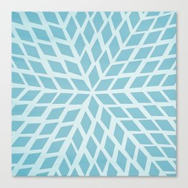Light blue, diamond, mosaic pattern. Moroccan tile. Canvas Print