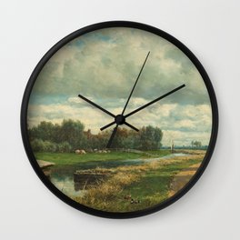 Landscape in the Environs of The Hague - Willem Roelofs (I) (1870-1875) Wall Clock
