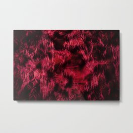 Claret stained texture abstract Metal Print