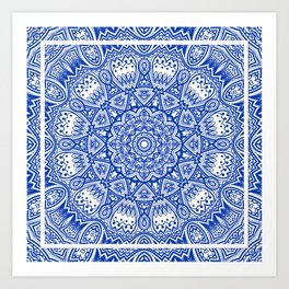 Blue Radiance Art Print