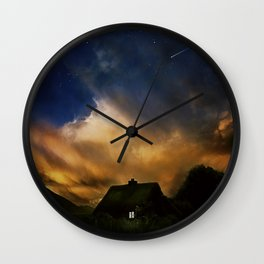Home under the stars Wall Clock