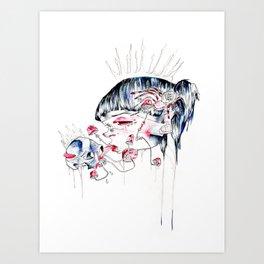 spoookie lady Art Print